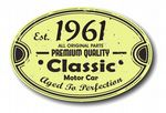 Distressed Aged Established 1961 Aged To Perfection Oval Design For Classic Car External Vinyl Car Sticker 120x80mm